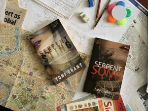 Serpent Song and Serpent Sting. Fictional organised crime written by Toni Grant.